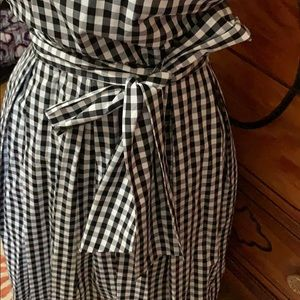 Eloquii Dresses - Black/white gingham dress